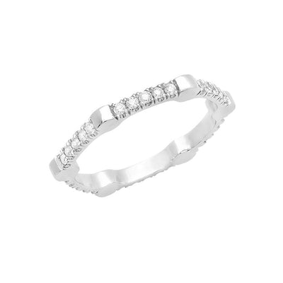 Diamond Gear Band | White Gold