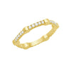 Diamond Gear Band | Yellow Gold