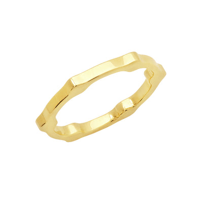 Gear Band | Yellow Gold