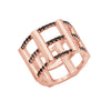 Cage Ring | Rose Gold with Black Diamonds