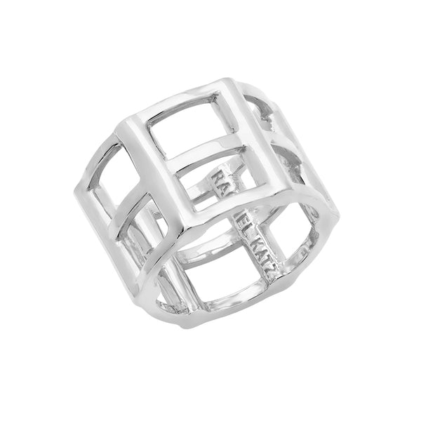 Cage Ring | White Gold