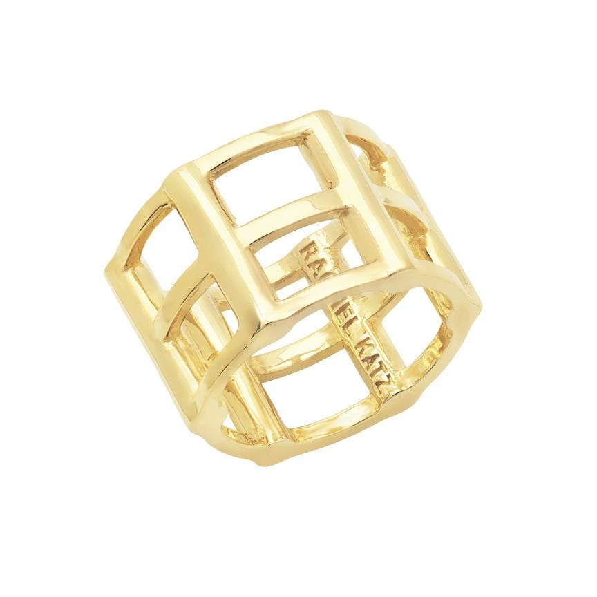 Cage Ring | 14K Yellow Gold