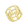 Cage Ring | Gold with Diamonds