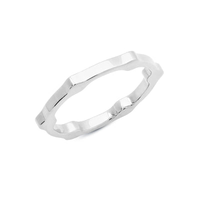 Gear Band | White Gold