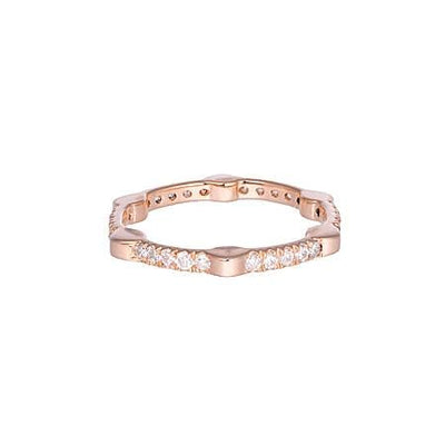 Diamond Gear Band | Rose Gold