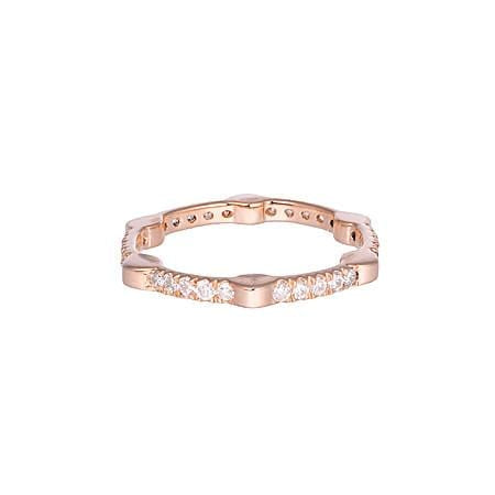 Cage Band | Rose Gold with White Diamonds on All Sides