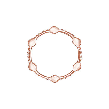 Cage Band | Rose Gold with Pink Sapphires