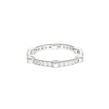 Cage Band | White Gold with White Diamonds on All Sides