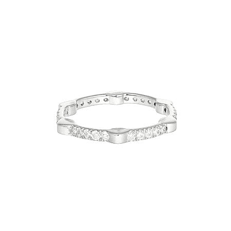 Cage Band | White Gold with Diamonds on All Sides