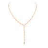 Confetti Lariat with Diamond Drop | Rose Gold