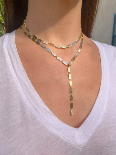 Diamond Confetti Necklace | Rose Gold