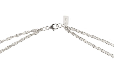 Double Tube Multi-Length Necklace | Silver Plated Brass
