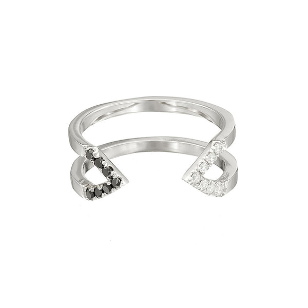 Donna Dagger Ring  | 14K White Gold with Diamonds