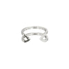 Donna Dagger Ring - Midi | White Gold