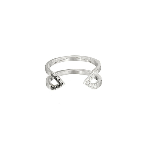 Donna Dagger Ring - Midi | 14K White Gold with Diamonds