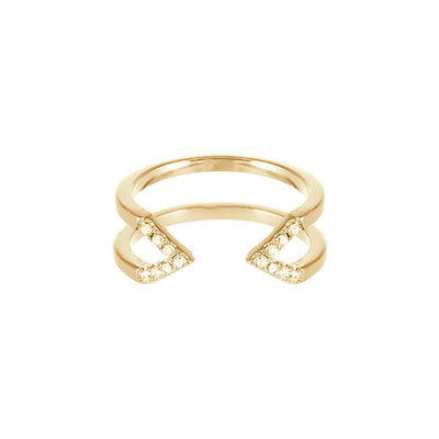 Yellow Sapphire Dagger Ring | Yellow Gold