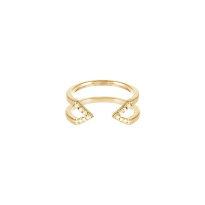 Yellow Sapphire Dagger Ring - Midi | Yellow Gold