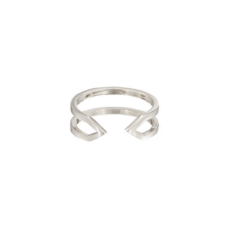 Dagger Ring - Midi | White Gold