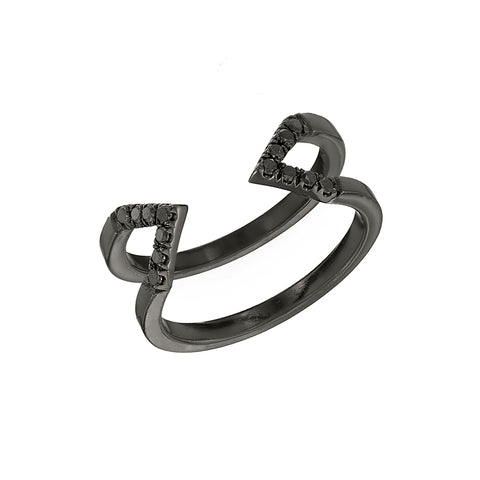 Black Diamond Dagger Ring | Black Gold