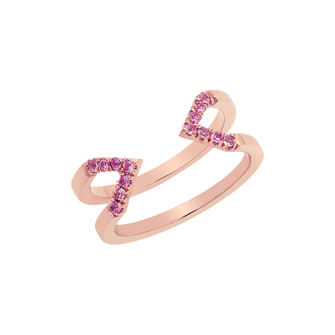 Dagger Ring  | Rose Gold with Pink Sapphires