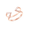 Diamond Dagger Ring | Rose Gold