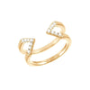 Diamond Dagger Ring | Yellow Gold