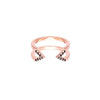 Black Diamond Dagger Ring - Midi | Rose Gold