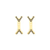 Black Diamond Dagger Studs with Ear Jackets | Yellow Gold