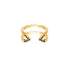 Black Diamond Dagger Ring - Midi | Yellow Gold