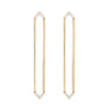 Long Marquis Earrings | Yellow Gold with Diamond Points