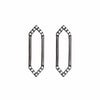 Medium Marquis Earrings | Black Gold with Diamond Points