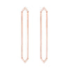 Long Marquis Earrings | Rose Gold with Diamond Points