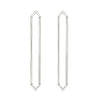 Long Marquis Earrings | White Gold with Diamond Points