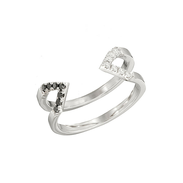 Donna Dagger Ring  | White Gold with Diamonds