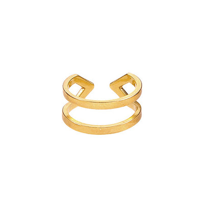 Diamond Dagger Ring - Midi | Yellow Gold