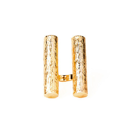 Double Tube Ring | Gold