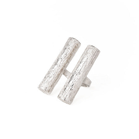 Double Tube Ring | Silver