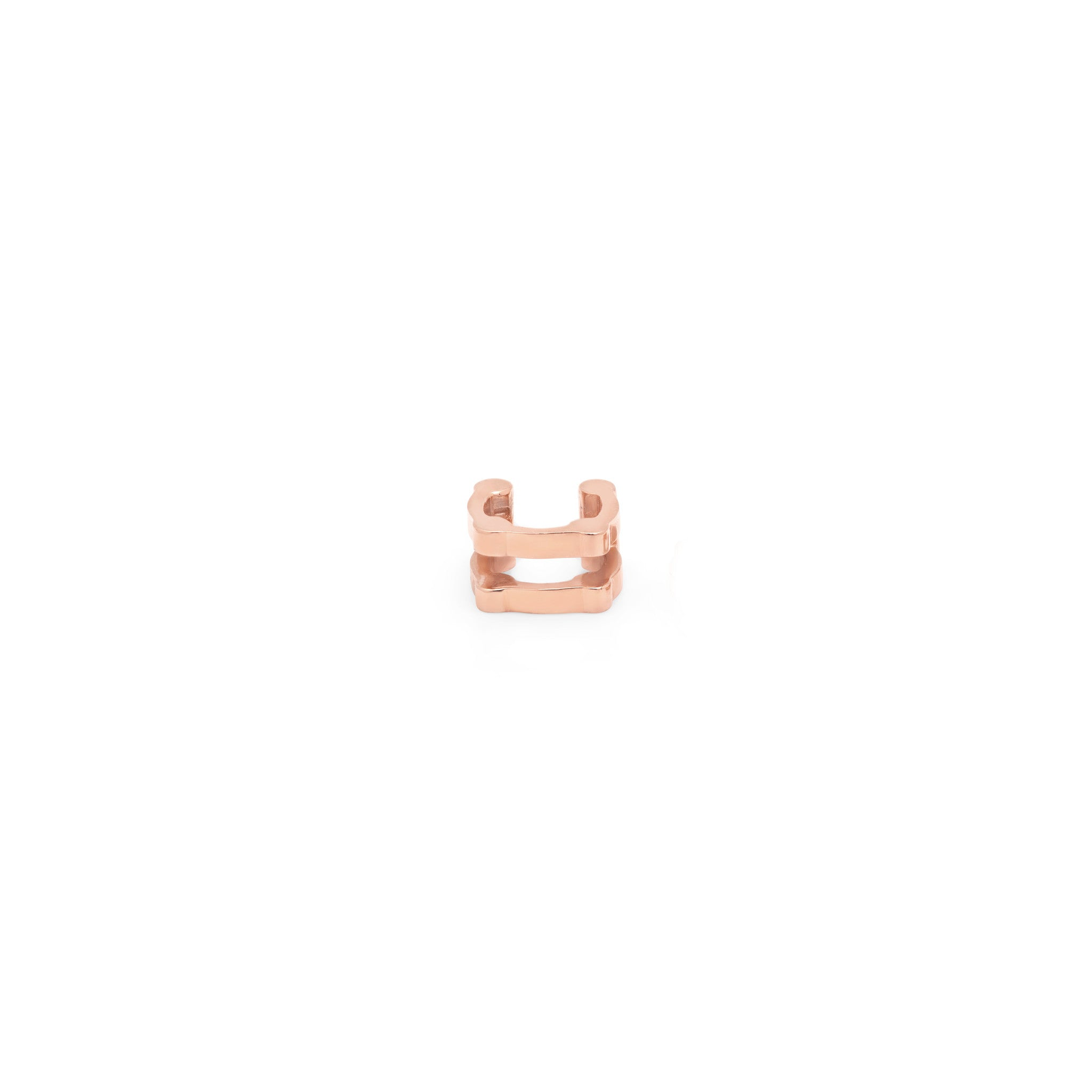 Double Cage Ear Cuff | 14K Rose Gold