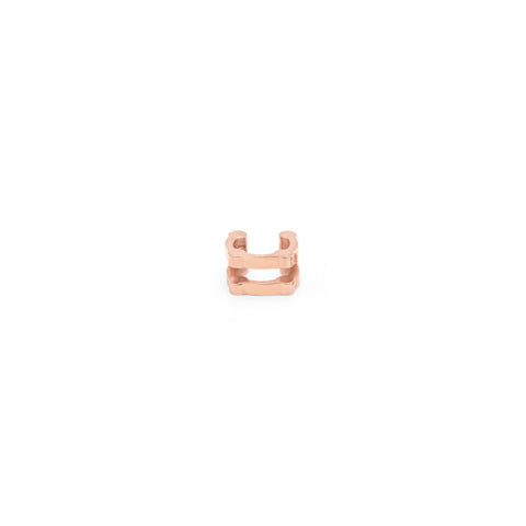 Double Cage Ear Cuff | Rose Gold