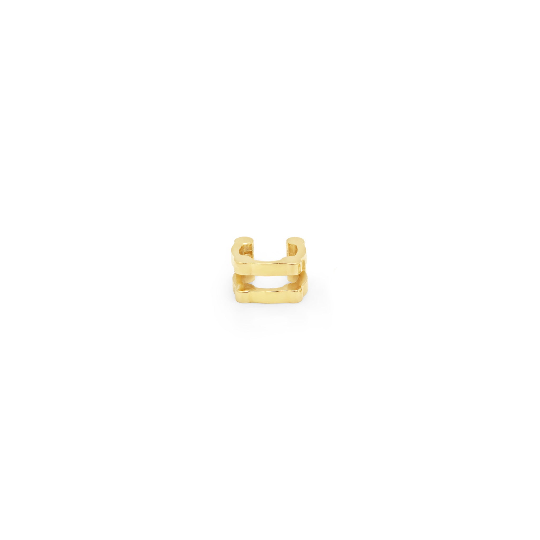 Double Cage Ear Cuff | 14K Gold