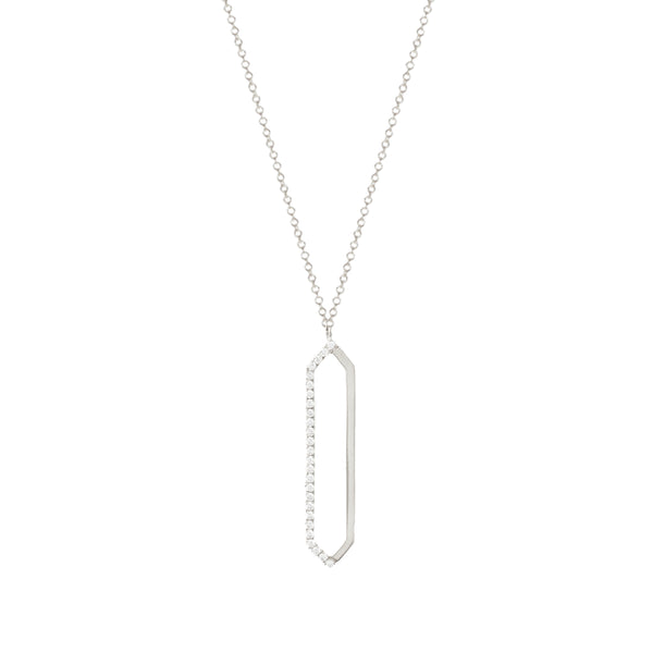 Me & You Necklace | White Gold