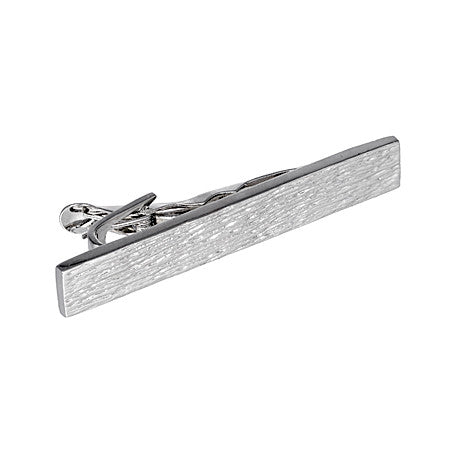 Flat Panel Tie Bar  | Sterling Silver