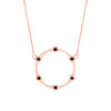 Black Diamond Gear Necklace | Rose Gold  Necklace Rachel Katz Jewelry
