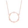 Black Diamond Gear Necklace | Rose Gold