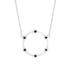 Black Diamond Gear Necklace | White Gold  Necklace Rachel Katz Jewelry