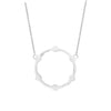 Gear Necklace | White Gold