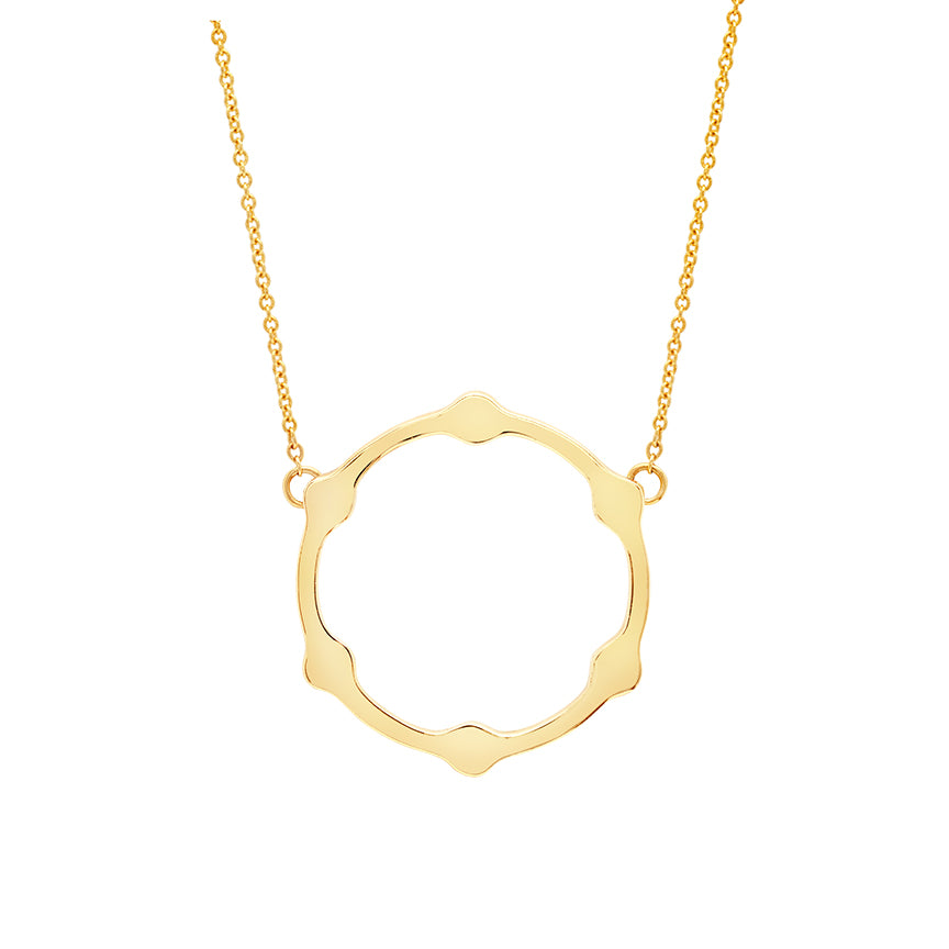 Gear Necklace | Gold