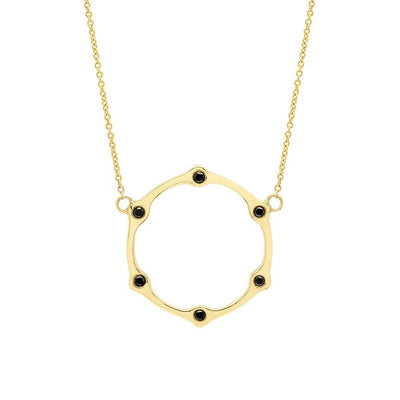 Diamond Gear Necklace | Yellow Gold