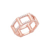 Diamond Half Cage Ring | Rose Gold