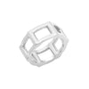 Half Cage Ring | White Gold